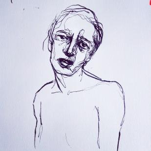 Portrait, Ink