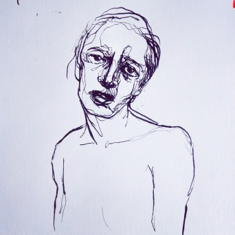 Portrait, Tusche