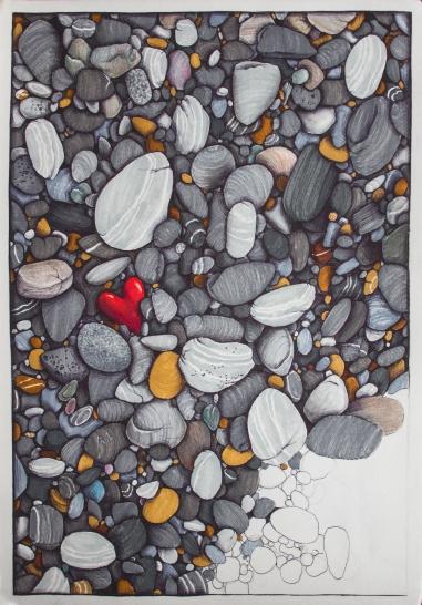 Steine, Filzstift