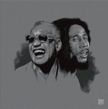 Ray Charles and Bob Marley